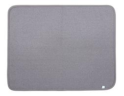 DRI Kitchen Dish Drying Mat Extra Large in Grey 2 Pack