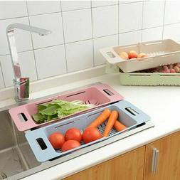 Kitchen Dish Sink Drainer Drying Rack Wash Holder Retractabl