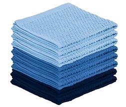 DecorRack 8 Pack Kitchen Dish Towels, 100% Cotton Wash Cloth