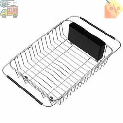 Kitchen Over The Sink Expandable Dish Drying Rack Adjustable