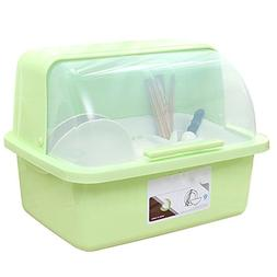 Rziioo Kitchen Plastic Drain Bowl/Rack With Cover Installati