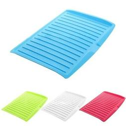 Kitchen Plastic Tray Dish Drainer Sink Drying Rack Home Work