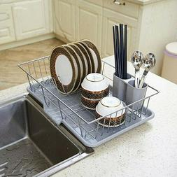 kitchen sink dish drying rack and draining