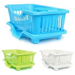 Kitchen Sink Dish Plate Utensil Drainer Drying Rack Holder B