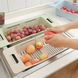 Kitchen Sink Sewer Drying Rack Washing Basket Available In a