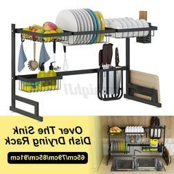 Kitchen Storage Rack Holder Over Sink Steel Drying Rack Drai