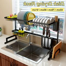 Kitchen Storage Racks Holder Steel Over Sink Drying Rack Dra