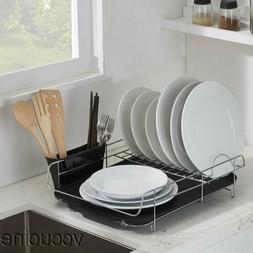 Single Kitchen Storage Sturdy Wire Dish Dry Holder Rack Drai