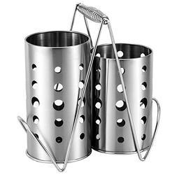 MyLifeUNIT Kitchen Utensil Holder, Stainless Steel Utensil O