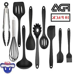Kitchen Utensil Set – 10+1 Pieces Silicone Cooking Gadgets
