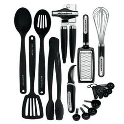 KitchenAid Classic 17-piece Tools and Gadget Set, Black