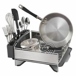 KitchenAid Compact Stainless Steel Dish Drying Rack Countert