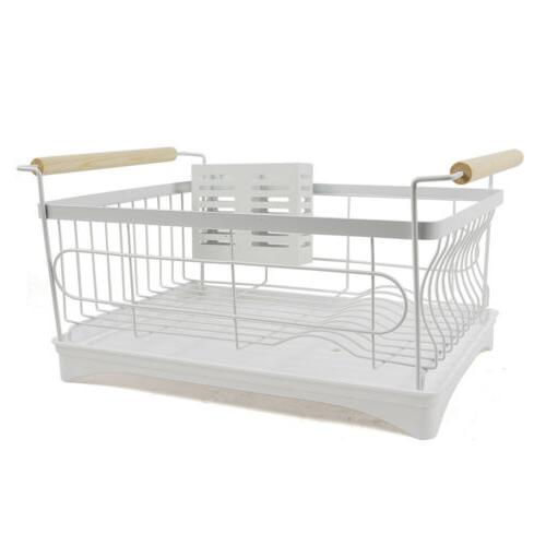 1-Tier Large Drying Rack Steel Wash Organizer US