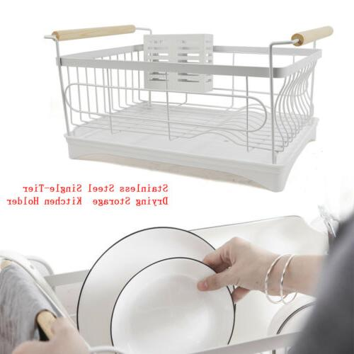 1 tier large dish drainer drying rack