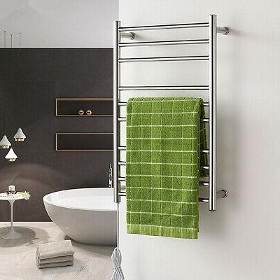 10 Bar Electric Heated Towel Warmer Rack Rail Drying Hanger