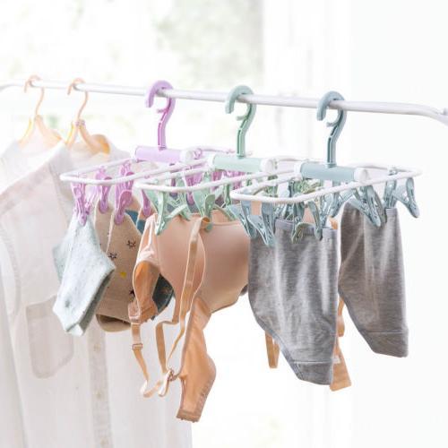 12 Clip Drip Clothes Bra Underwear Hanging Dryer