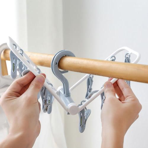 12 Drying Hanging Clothes Hooks