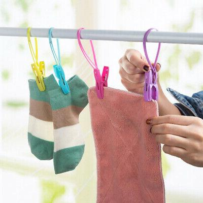 12Pcs Clothes Drying Towel Hanging Clip Laundry Hooks Hangers
