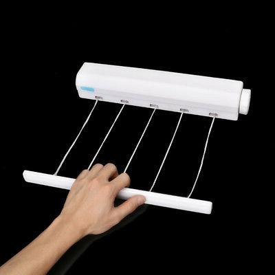1Pc Heavy Retractable 5 Line Hang-drying Wall Clothes line !