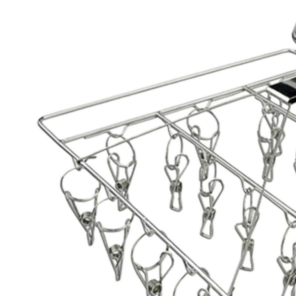 1pc Square Rack Multi-clip Drying Rack Square Clothes Dorm