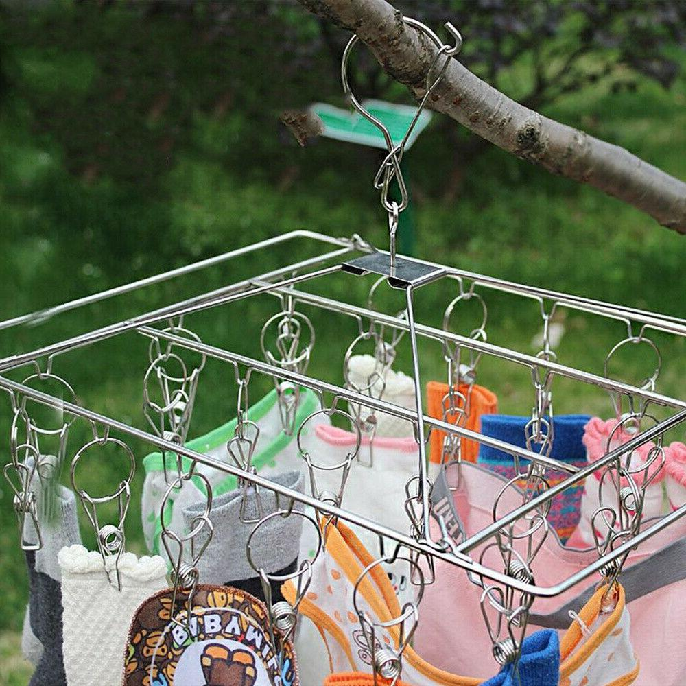 1pc Square Sock Rack Multi-clip Rack Square Clothes Hanger for Dorm