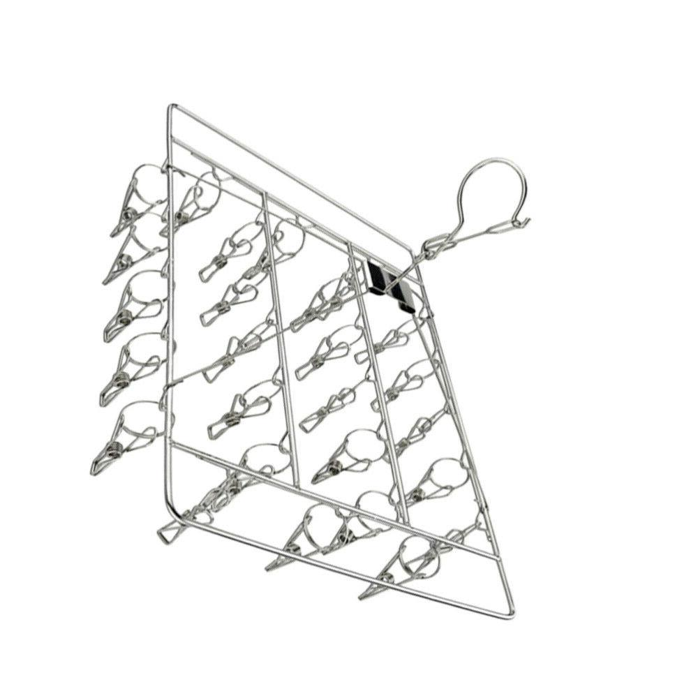 1pc Square Multi-clip Drying Square Clothes Hanger Dorm