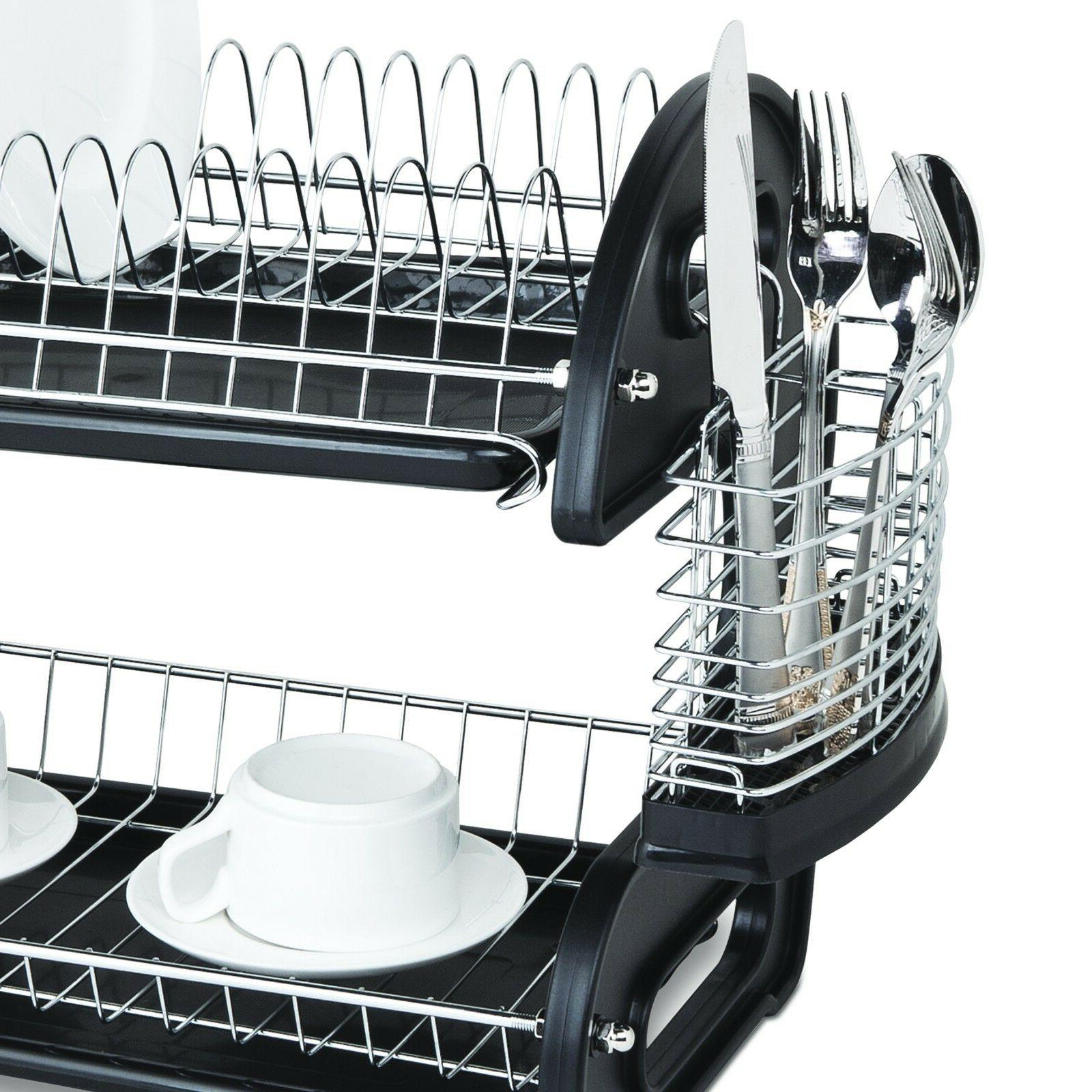 Home Basics 2 Tier Black Drying Washing DD10249