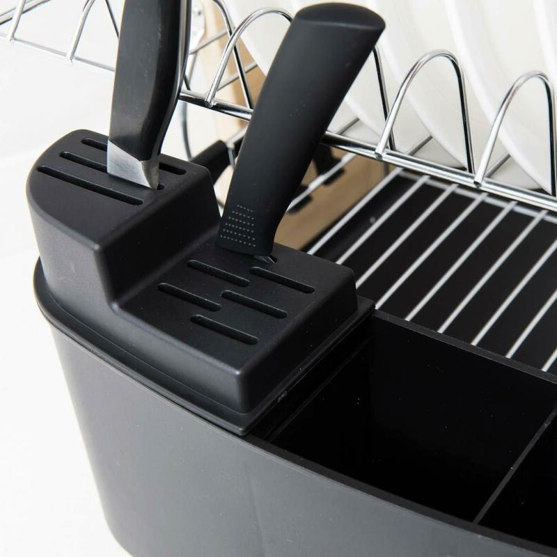 2 Black Plastic Drainers Rack Large Capacity Selling