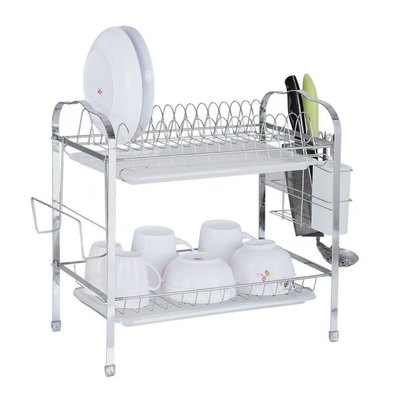 2-Tier Drying Organizer Kitchen Shelf