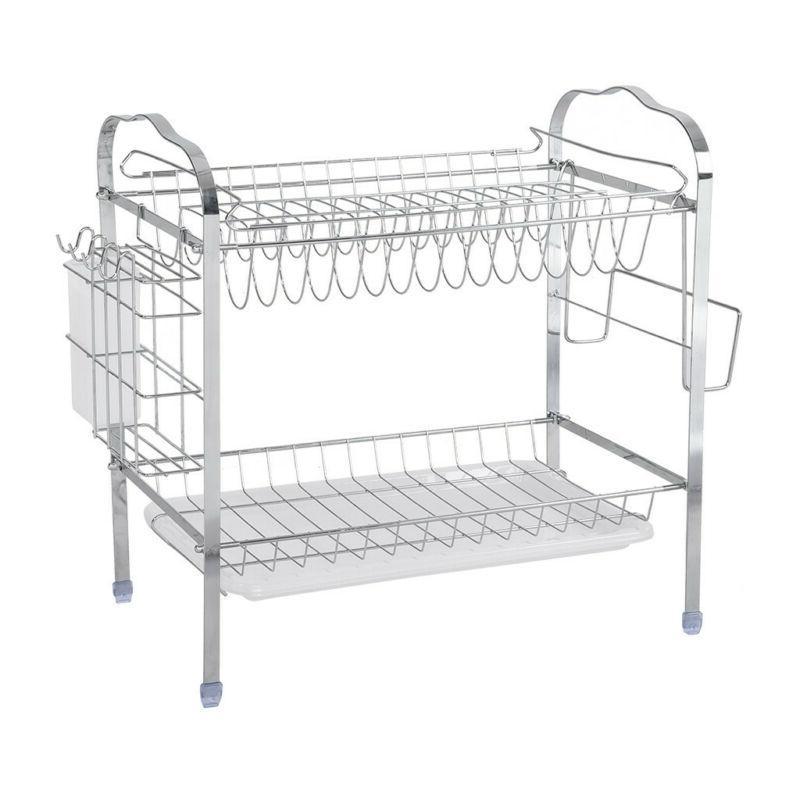 2-Tier Dish Rack Organizer