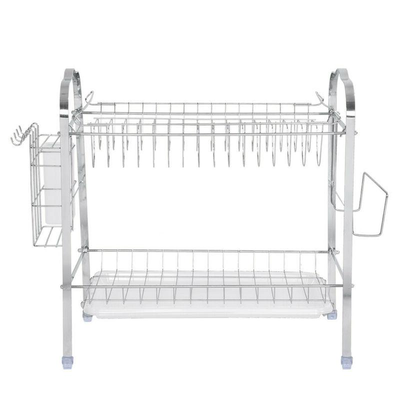 2-Tier Drying Organizer Home Kitchen Shelf US Stock