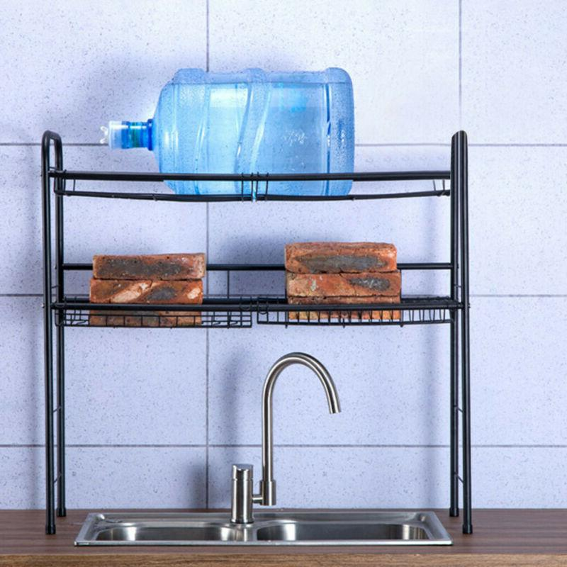 2-Tier Dish Drying Stainless Drainer Storage Space