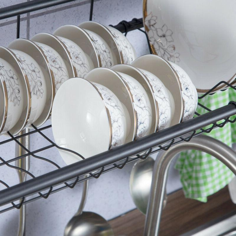 2-Tier Drying Stainless Storage Saver