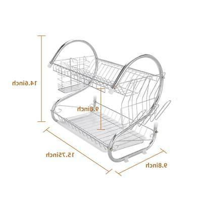 Multi-function 2-Tier Dish Drying Storage