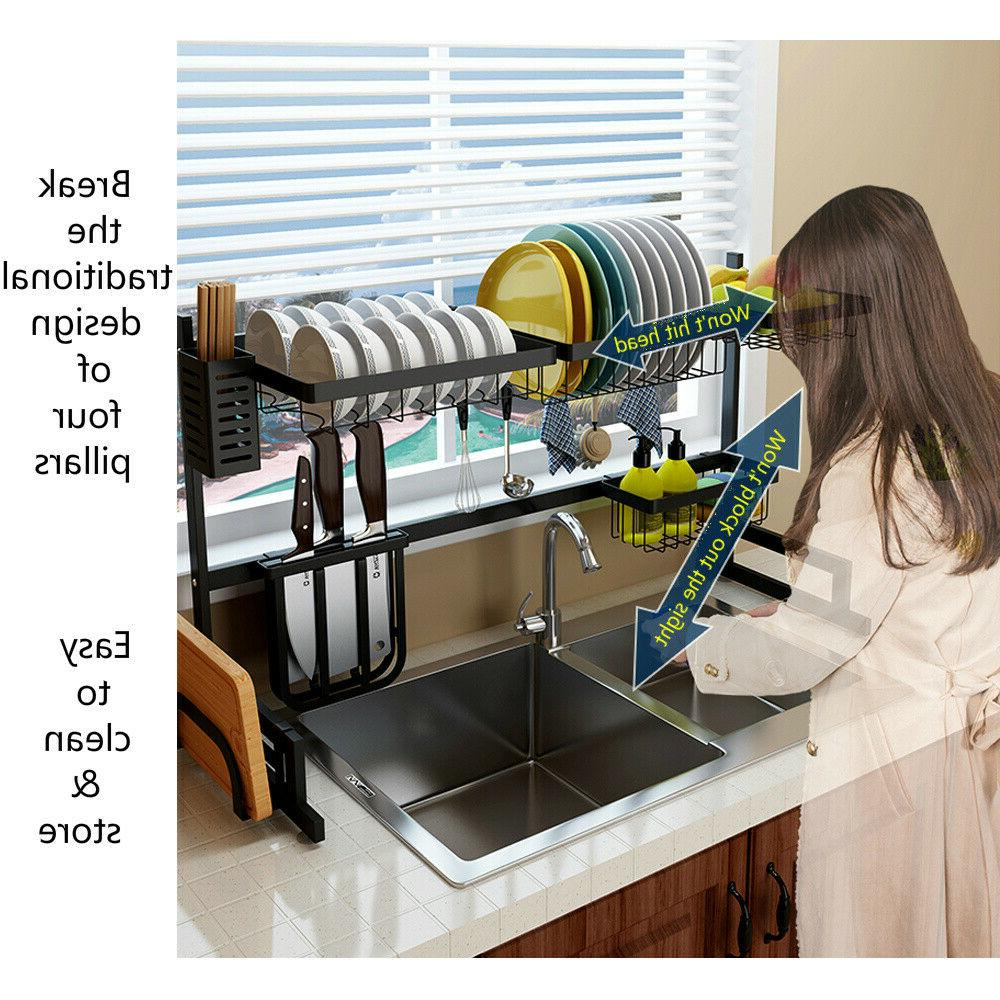 2-Tier Over Drying Rack Kitchen Shelf