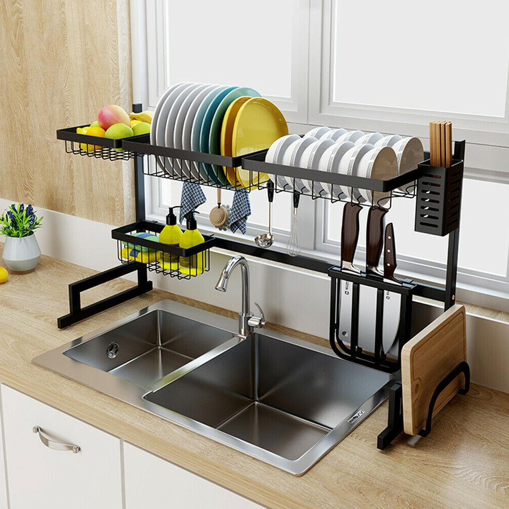 2 tier over sink dish drying rack