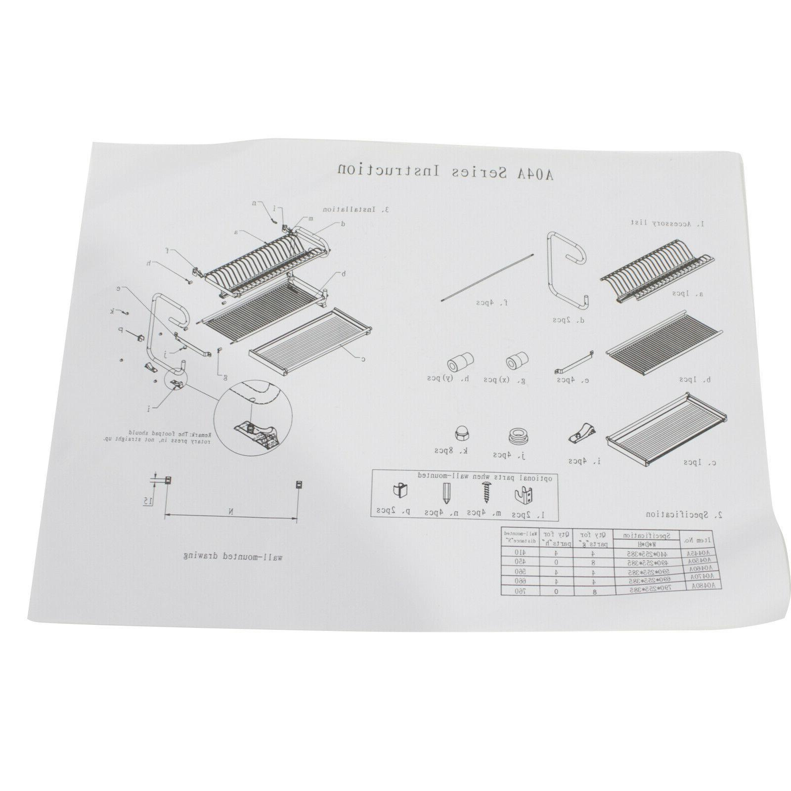 2 Tier Dish Rack Drying Plate Drainer