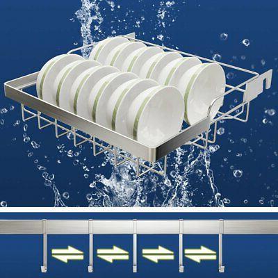 2-Tier Utensils Drying Rack Over Sink Steel Drainer