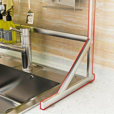 2-Tier Dish Rack Sink Steel
