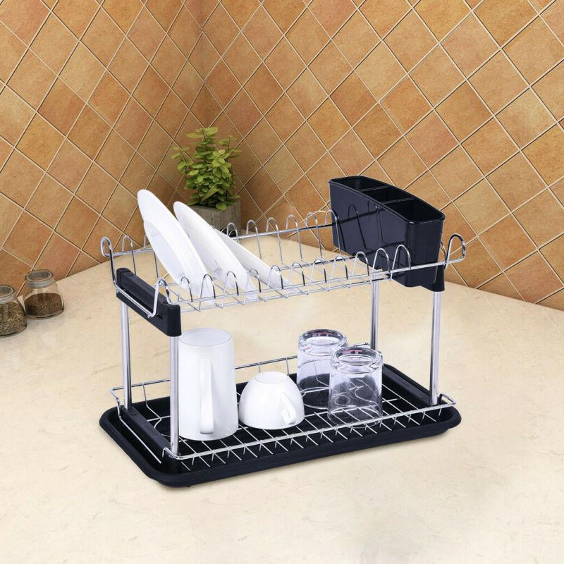 2 Dish Rack Dryer Grids Cups Storage For