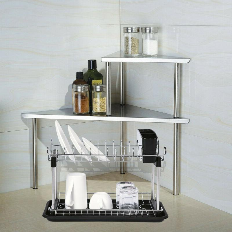 2 Dish Rack Drainer Dryer Grids Cups Tray Storage For