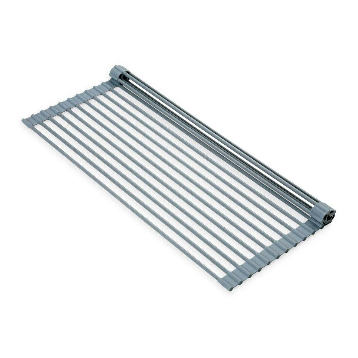 """20.5"""" Over Sink Drying Rack, Duty Silicone/Steel,"""