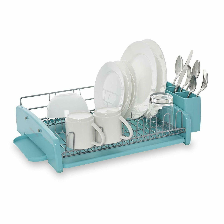 KitchenAid 3 Piece Dish Rack Aqua Sky KCS896BXAQA