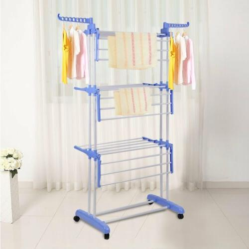 3 tier clothes drying rack with 2