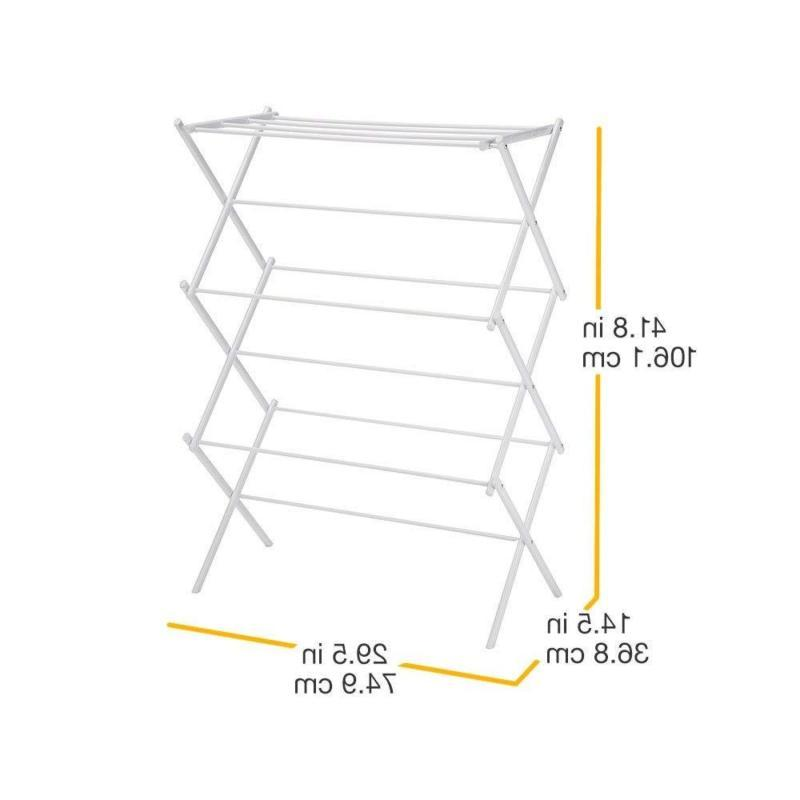 3 Tier Foldable Drying Rack For 41 Inches White