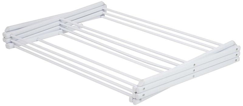 3 Tier Foldable Drying Rack For Clothes 41 Inches White
