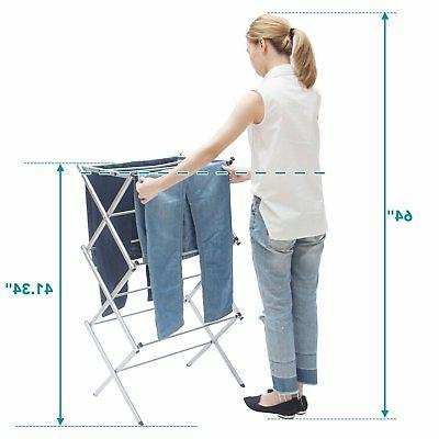 STORAGE 3-tier Anti-Rust Compact Steel Clothes Drying
