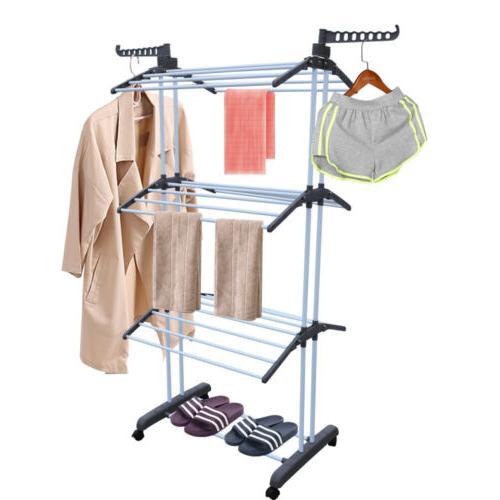 3 Tier Laundry Rack Clothes Horse Heavy Dryer