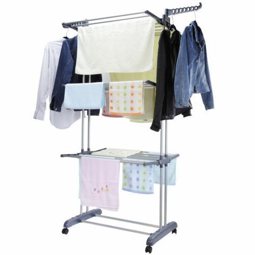 3 tier laundry organizer folding drying rack