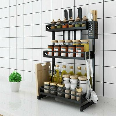 3 Tier Over Sink Drying Rack Shelf Stainless Cutlery